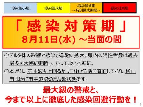 新型コロナウイルス感染症警戒レベルを「感染対策期」に引き下げについて(2)(愛媛県)