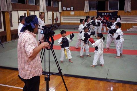 テレビ愛媛「EBCプライムニュース」 取材 by 今治拳友会