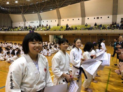 2019日本拳法全国少年大会個人戦決勝(中学2年女子) ver.今治拳友会