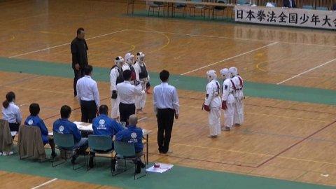 2019日本拳法全国少年大会団体戦決勝(中学生女子) ver.今治拳友会