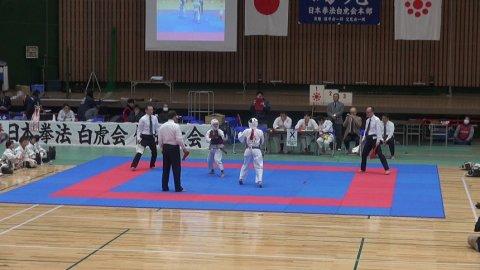 2020日本拳法白虎会大会決勝戦(小学校6年生女子) by 今治拳友会