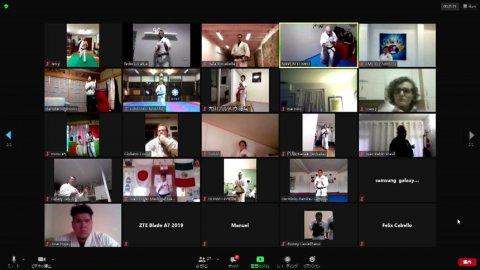 日本拳法オンライン国際稽古(2020/1/24) MMAファイターの中村優作選手参戦